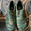 Polo By Ralph Lauren Shoes | Mens Camouflage Polo Slip Ons | Color: Green | Size: 13