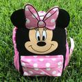 Disney Accessories | Minnie Mouse 10 Inch Backpack | Color: Pink/White | Size: 10 X 8 X 5 Inches