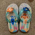 Disney Shoes | Disney Nemo & Dory Flip Flops Size 9 | Color: Blue/Orange | Size: 9g