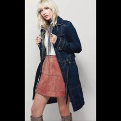Free People Jackets & Coats   New- Free People Denim Belted Trench Coat   Color: Blue   Size: Xs