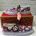 Vans Shoes | Nwt Vans Classic Slip On Floral Sneakers | Color: Red/White | Size: 8.5