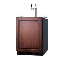 """""""24"""""""" Wide Built-In Wine Kegerator, ADA Compliant - Summit Appliance SBC58BLBIADAIFWKDTWIN"""""""