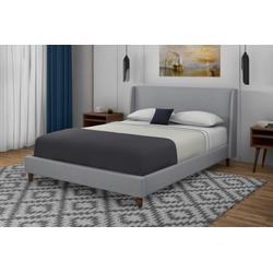 MADDISON UPHOLSTERED KING BED IN A BOX W/ 2 NIGHTSTANDS - Bernards 1182DS-110