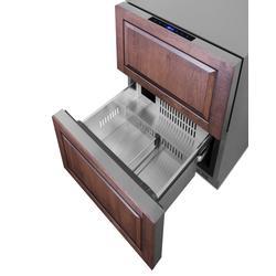 """""""24"""""""" Wide 2-Drawer Refrigerator-Freezer - Summit Appliance SPRF34D"""""""