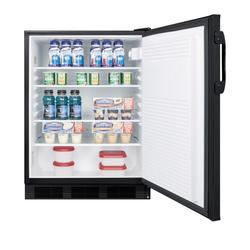 """""""24"""""""" Wide Built-In All-Refrigerator, ADA Compliant - Summit Appliance FF7LBLKBIADA"""""""