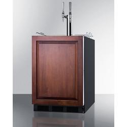 """24"""" Wide Built-In Coffee Kegerator, ADA Compliant - Summit Appliance SBC58BLBIADAIFNCFTWIN"""