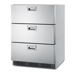 """24"""" Wide 3-Drawer All-Refrigerator, ADA Compliant - Summit Appliance SP6DBS7ADA"""