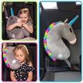 Ceinture de sécurité pour enfants, coussin d'épaule de siège de voiture, en coton PP, motif licorne