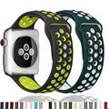Bracelet sport pour Apple Watch, en Silicone, 44mm 40mm 38mm 42mm 44mm, pour iWatch série 6 SE 5 4 3