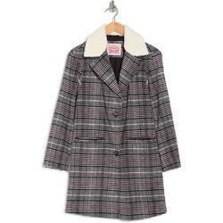 Levi's® Leopard Faux Shearling Trim Coat - Black - Levi's Coats