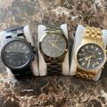 Michael Kors Accessories | 3 Different Michael Kors Mens Watches. | Color: Black/Gold/Green | Size: All One Fits All