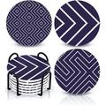 ABS Coaster Set w/ Holder in Blue, Size 0.4 H x 4.0 D in | Wayfair ABS73ec5ad