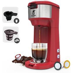 AVALONA Single Serve Coffee Maker, Single Serve K Cup Coffee Maker For K-Cup Pod & Ground Coffee in Red, Size 11.7 H x 7.8 W x 5.32 D in | Wayfair
