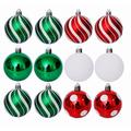 DELCY 30 Pieces Of Christmas Ball Ornaments, Shatterproof Holiday Bulbs, Holiday Wedding Ornaments, Christmas Tree Decorations | Wayfair in Red/Green