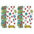 Eureka® Eureka Back To School Welcome All-In-One Door Decor Kit, 40 Pieces Per Set, 2 Sets, Size 18.0 H x 12.25 W x 0.62 D in | Wayfair EU-849337-2