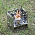 Furnitureshop Charcoal Camping Stove Fire Pit Portable Stainless Steel Folding Barbecue Outdoor Burning Fire Station Gas Barbecue | Wayfair