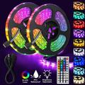 """JMEXSUSS 600-Light LED 393.6"""" Under Cabinet Strip Lights RGB Color Changing 5050 Flexible LED Tape Light w/ IR Remote Controller in White 