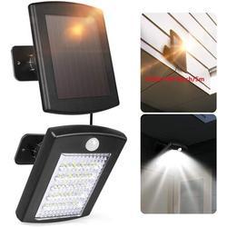 LAKEKYD Solar Lights Outdoor, Motion Sensor Outdoor Light w/ 16.4Ft Cable, LED Flood Lights Outdoor Spotlights   Wayfair LAKEKYD6aa331e