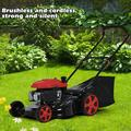Modern Farmhouse® 20-Inch 2-In-1 161Cc High-Wheeled FWD Self-Propelled Gas Powered Lawn Mower, Size 29.9213 H x 16.9291 D in | Wayfair