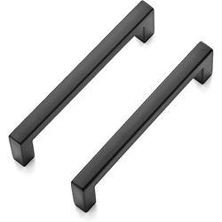 "SCHCJI Matte Kitchen Drawer 3-3/4"" Center To Center Bar Pull Metal in Black, Size 4.1 H x 0.34 W in | Wayfair SCHCJI92800f8"