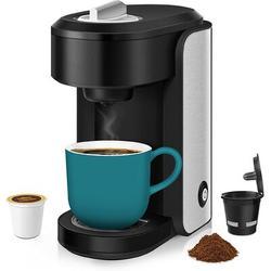 Love life Single Serve Coffee Maker Brewer Compatible w/ K-Cup Pod, Ground Coffee & Loose-Leaf Tea, Mini Coffee Machine Comes w/ Reusable K Cups