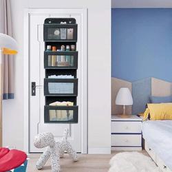 Rebrilliant Over The Door Organizer,5-Shelf Over The Door Pantry Organizer in Black, Size 39.4 H x 12.4 W x 4.7 D in | Wayfair