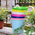 Arlmont & Co. Planter Pots, Metal Hanging Flower Pots, Garden Patio Fence Hanging Pot, Outdoor Flower Pot For Fence, Size 11.2 H x 3.8 W x 5.4 D in