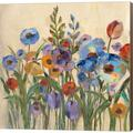 Red Barrel Studio® Sunrise Garden II By Silvia Vassileva, Canvas Wall Art Canvas & Fabric in Brown/Red, Size 24.0 H x 24.0 W x 1.5 D in | Wayfair