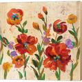 Red Barrel Studio® July In The Garden II By Silvia Vassileva, Canvas Wall Art Canvas & Fabric in Brown/Green/Red, Size 24.0 H x 24.0 W x 1.5 D in