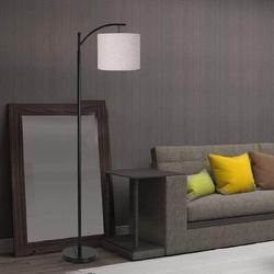 Red Barrel Studio® Floor Lamp, Modern Floor Lamp Standing Industrial Arc Light w/ Lamp Shade, LED Floor Lamp For Living Room, Bedroom | Wayfair
