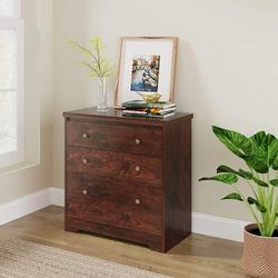 Millwood Pines DEVAISE Lateral File Cabinet, 3 Drawer Wood Storage Cabinet w/ Hanging Letter/Legal Size File For Home Office, Cherry Wood | Wayfair