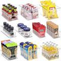 Prep & Savour Clear Fridge Storage Bin - Piece Plastic Refrigerator Organizer Bins Large Fridge Storage Containers w/ Handle | Wayfair