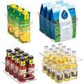 Rebrilliant Plastic Refrigerator Organizer Bins - 4 Piece Clear Fridge Organizers w/ Handles, Fridge Organization Bin Set | Wayfair