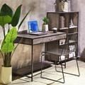 17 Stories Multipurpose Home Office Computer Writing Desk w/ One Drawer in Black/Brown, Size 29.3 H x 43.3 W x 21.6 D in | Wayfair