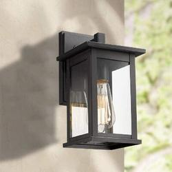 17 Stories Outdoor Wall Light Fixture, Exterior Wall Mount Lighting, Outdoor Wall Sconces, Porch Wall Lighting, Black Finish (Black in Black/Gray