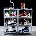 Rebrilliant Shoes Storage Case 6PCS Transparent Sneaker Storage Box Sneaker Display Boxes Shoes Organizer Clear Aclyric Storage Box | Wayfair