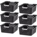 Rebrilliant Plastic Storage Shelf Basket/Pantry Bins-Household Organizers w/ Handles For Kitchen, Countertops, Cabinets, Bedrooms, & Bathrooms