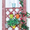 Arlmont & Co. Hanging Planter Pots, Metal Hanging Flower Pots w/ Drainage Hole, Planter Nursery Pots, Outdoor Flower Pot in Brown | Wayfair