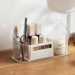 Rebrilliant Makeup Tray Holder Organizer Cosmetic Display Case Tabletop Desktop Vanity Countertop Bathroom Wall Cabinet Medicine Storage Box 9 Dividers 2 Removabl