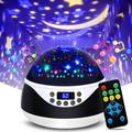 The Holiday Aisle® Night Lights Projector For w/ Timer Amp; Music, Romantic Rotating Lights Remote Control Projection Lamp For Bedroom in Black