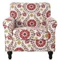 Red Barrel Studio® Upholstered Accent Armchair w/ Solid Wood Legs, Green in Black | Wayfair 5902933C2461423FB45F7B4471ADFFF2