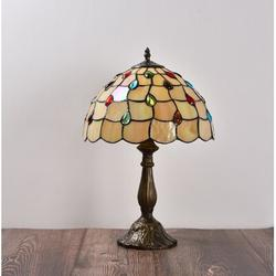 Darby Home Co Tiffany Table Lamp Tiffany Lamp Bedside Lamps Stained Glass Lamps For Bedrooms Amber Hobnail Lamp Bead Light Nightstand Reading Lamp