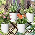 Arlmont & Co. Hanging Planter Pots, Metal Hanging Flower Pots w/ Drainage Hole, Planter Nursery Pots, Outdoor Flower Pot in White | Wayfair