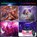 The Holiday Aisle® Night Lights Projector For w/ Timer Amp; Music, Romantic Rotating Lights Remote Control Projection Lamp For Bedroom in Pink