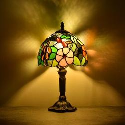 Darby Home Co Steelman Table Lamp Steelman Lamps Stained Glass Lamps For Bedrooms Bedside Lamps Antique Grape Rose Stained Glass Shade in Brown