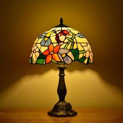 Darby Home Co Tiffany Table Lamp Stained Glass Lamp For Bedrooms Bedside Lamp Tiffany Hummingbird Lamp Desk Reading Light Nightstand Banker Deco Lamp