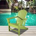 Highland Dunes Adirondack Chair Outdoor Lounge Chair Plastic/Resin in Green, Size 33.5 D in   Wayfair DDCC2BE3BC5646A09008357E7C5D9459