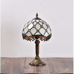 Darby Home Co Antique Bronze Standard Table Lamp Resin/Glass in Brown/White, Size 14.6 H x 8.0 W x 8.0 D in   Wayfair