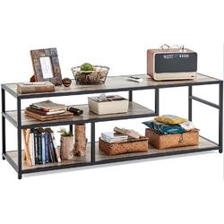 17 Stories TV Stand,Wood Coffee Table w/ Storage Shelf For Home, Office, Hotel Wood in Black/Brown/Gray, Size 19.6 H x 55.1 W x 17.3 D in | Wayfair