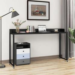 Inbox Zero Ming's Overbed Table w/ Wheels Queen Size Mobile Desk w/ Heavy-Duty Metal Legs Great For Bedroom Dining Room Living Room Writig Desk